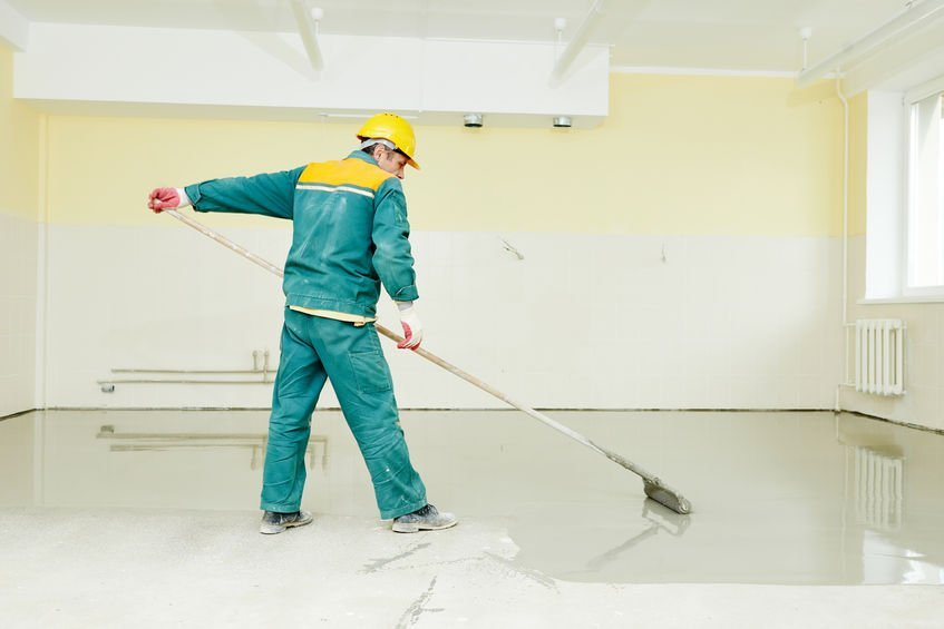 sealing a concrete floor with pva